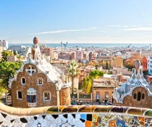 Barcelona, city, and colour image