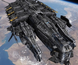 aliens, spaceship, and scifi image