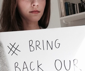 emma watson, bringbackourgirls, and bring back our girls image