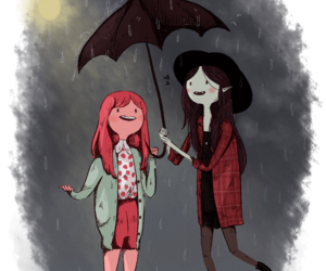 adventure time, rain, and umbrella image