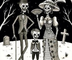 art, family, and skeleton image