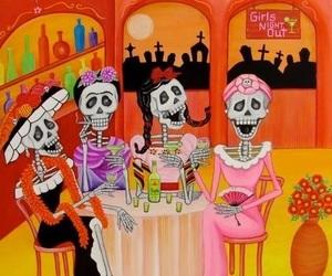 day of the dead, dia de muertos, and catrinas image