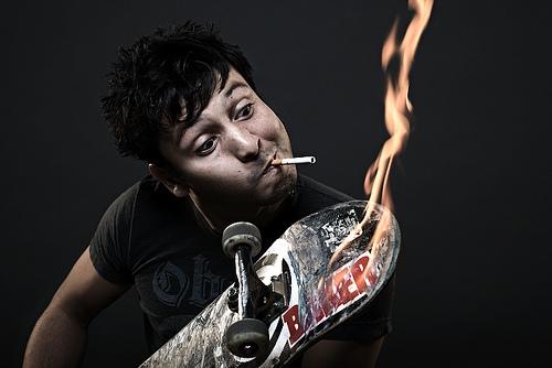 baker, boy, and cigarette image