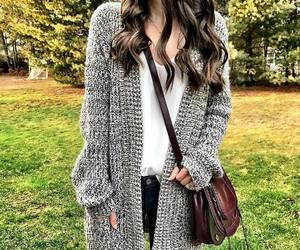 chunky knit cardigan image