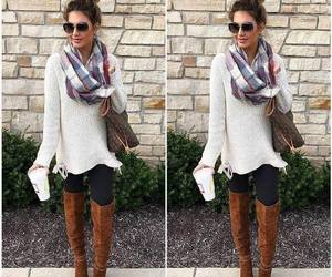 boots, outfit, and winter image