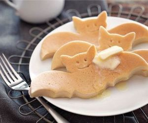 pancakes, food, and Halloween image