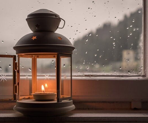 candle, fall, and rain image