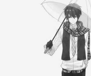 anime, boy, and umbrella image
