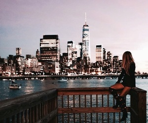 buildings, city, and girl image