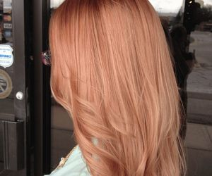 hair, rose, and rose gold image