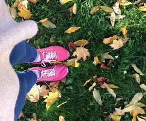 autumn, осень, and ноги image