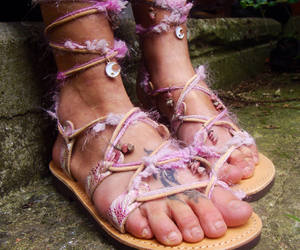 etsy, lace up sandals, and gift for her image