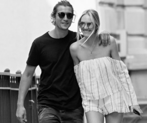 black and white, couple, and candice swanepoel image