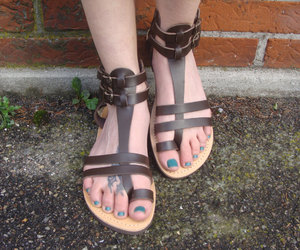 etsy, gift for her, and toe loop sandals image