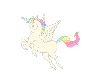 unicorn, transparent, and overlay image