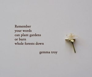 quotes, flower, and poem image