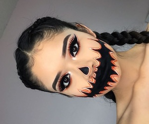 braids, hairstyle, and Halloween image