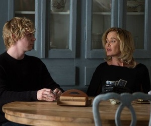 american horror story, evan peters, and jessica lange image