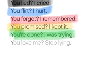 ?, lying, and me image