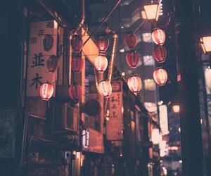 japan, lantern, and night image