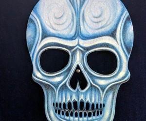 black, black background, and skeletons image
