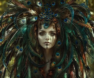 glam, headpiece, and art image