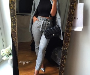 bag, grey, and tenue image