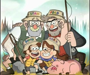 pato, gravity falls, and stan image