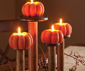 autumn, candles, and fall colors image