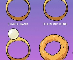 delicious, diamond, and onion rings image