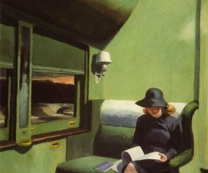 edward hopper, painting, and woman image