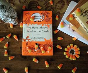 autumn, halloween treats, and classic books image
