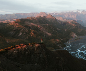 cliff, iceland, and landscape image