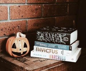 books, holidays, and pumpkin image