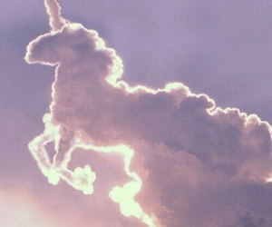 unicorn, clouds, and sky image