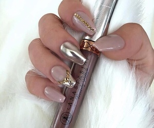 girls, makeup, and nails image