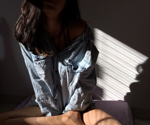 body, hair, and jeans image