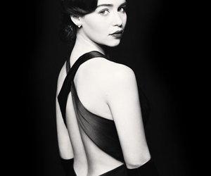 emilia clarke, black and white, and game of thrones image
