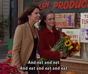 gilmore girls, eat, and food image