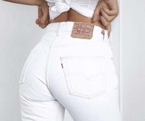 fashion, white, and jeans image
