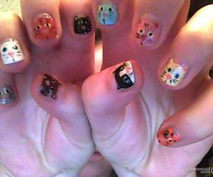 cats, nails, and cute image
