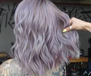 purple hair, lavender hair, and lilac hair image