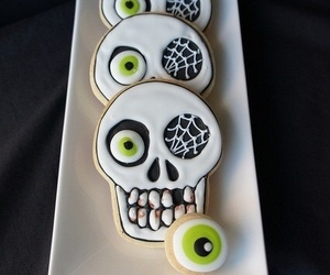 Halloween, food, and skeleton image