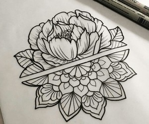flower, mandala, and tattoo image