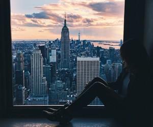 city, girl, and new york image