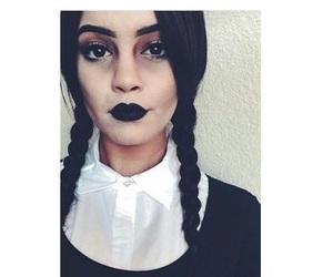 Halloween, makeup, and Wednesday Adams image