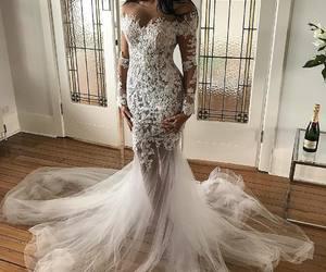 beautiful, wedding dress, and fashion image