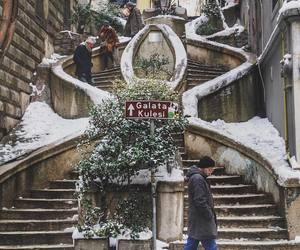 istanbul, galata, and winter image