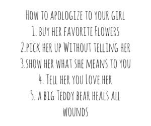 apologize, boy, and boyfriend image