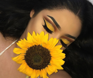 flower, makeup, and beauty image